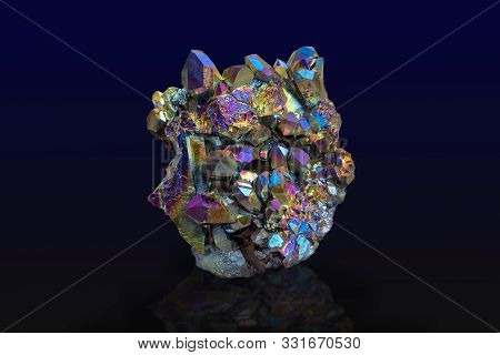 Rainbow Crystal Texture As Very Nice Natural Background