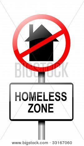 Concepto sin hogar.