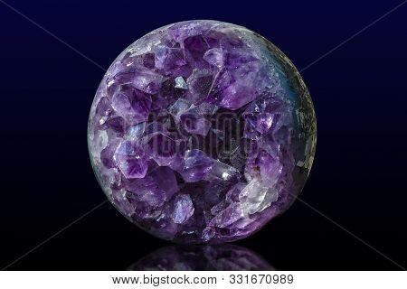 Close-up Of Raw Amethyst Druse .gemstone - Detail