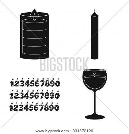 Vector Design Of Candlelight And Decoration Symbol. Collection Of Candlelight And Wax Stock Vector I