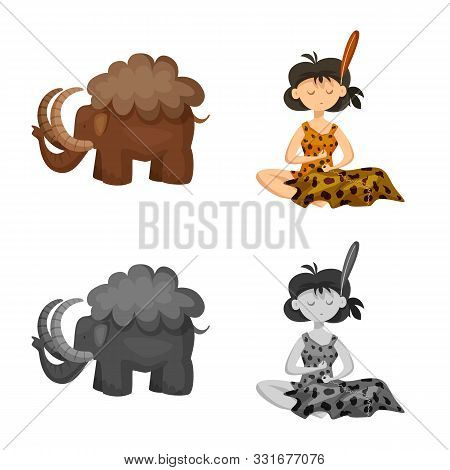 Vector Illustration Of Evolution And Prehistory Icon. Collection Of Evolution And Development Stock