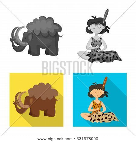 Vector Design Of Evolution And Prehistory Icon. Set Of Evolution And Development Stock Symbol For We