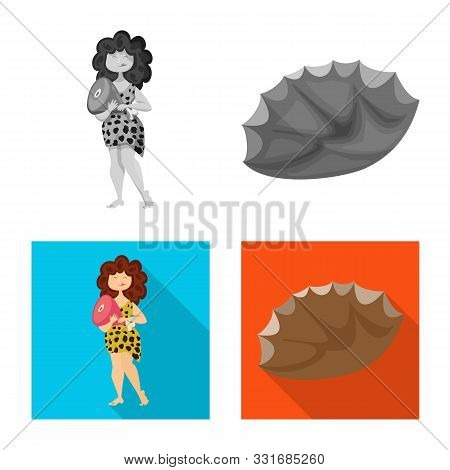 Vector Illustration Of Evolution And Prehistory Icon. Set Of Evolution And Development Stock Vector