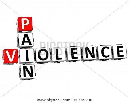 3D Pain Violence Crossword