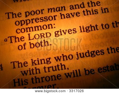 The Lord Gives Light - Bible Verse