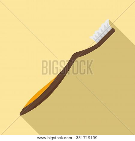 Used Toothbrush Icon. Flat Illustration Of Used Toothbrush Vector Icon For Web Design