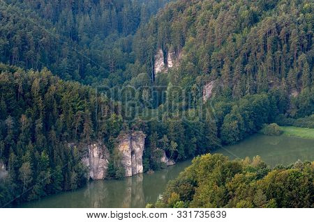 Sandstone Rocks In Bohemian Paradise Area An Aerial Photo.