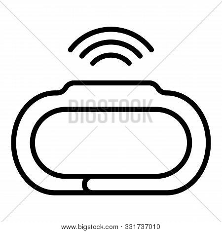 Wearable Smartwatch Icon. Outline Wearable Smartwatch Vector Icon For Web Design Isolated On White B