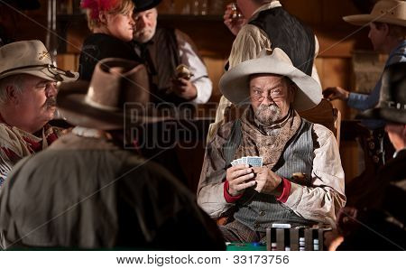 Cowboy With Poker Face