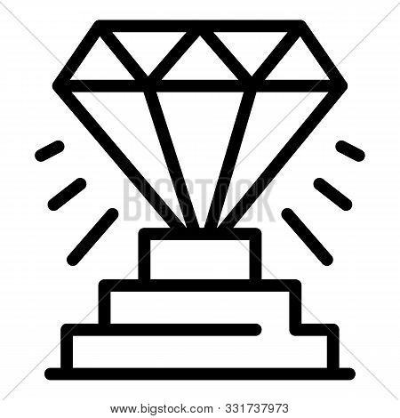 Diamond Startup Icon. Outline Diamond Startup Vector Icon For Web Design Isolated On White Backgroun