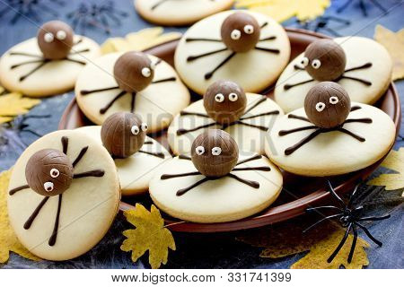 Halloween Spooky Spider Cookies For Kids Party