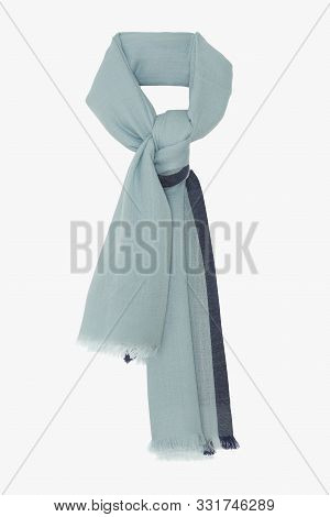 Light Color Scarf - Hand-rolled Silk Scarves Bearing With White Background