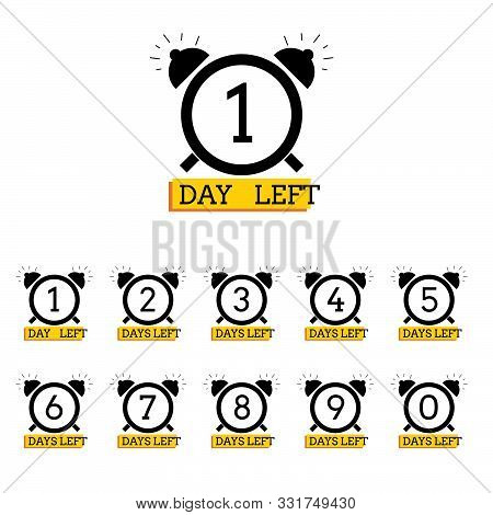 Days Left Number Clock Design For Web Project Eps 10 Vector