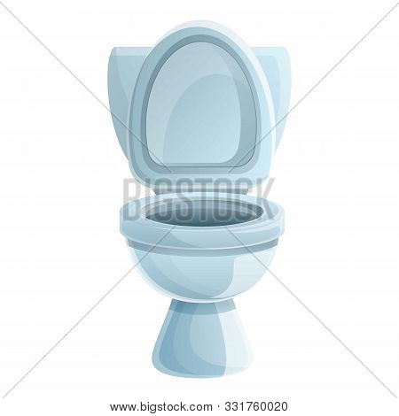 Washroom Toilet Icon. Cartoon Of Washroom Toilet Vector Icon For Web Design Isolated On White Backgr