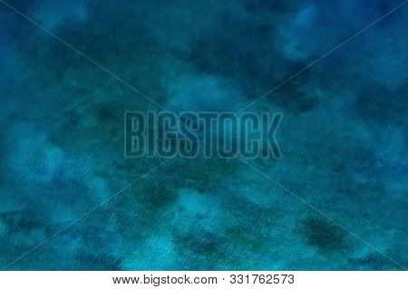 Background Image Of Turquoise Sea. Deep Sea And Corals. Top View Of Beautiful Caribbean Sea. Aerial