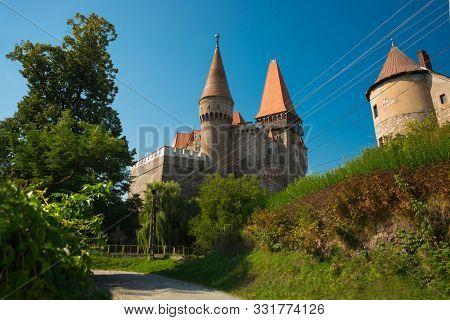 The Hunyad Castle. Medieval Gothic-renaissance Castle In Hunedoara, Transylvania. Castelul Huniazilo