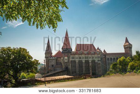 Hunyad Castle. Corvins Castle In Hunedoara, Romania. Romanian Castle Landmarks.