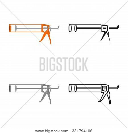 Isolated Object Of Hotmelt And Pistol Sign. Graphic Of Hotmelt And Caulk Stock Symbol For Web.
