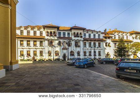 Union Square (piata Unirii) Seen At The Sunny Day In Oradea, Rom