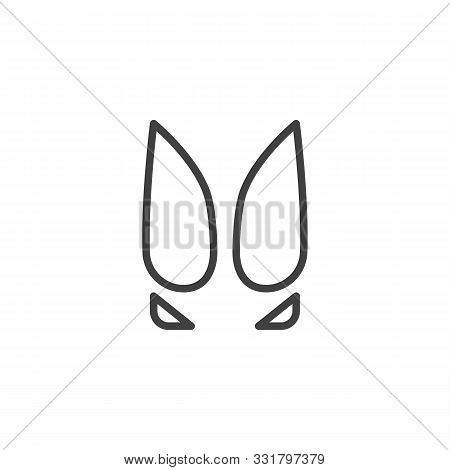 Cow Paw Print Line Icon. Linear Style Sign For Mobile Concept And Web Design. Cow Animal Hoof Print
