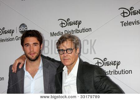 LOS ANGELES - MAY 20:  Joshua Bowman, Henry Czerny arrives at the ABC / Disney International Upfronts at Walt Disney Studios Lot on May 20, 2012 in Burbank, CA