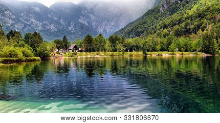 Panoramic View Of Lake Bohinj, The Largest Permanent Lake In Slovenia. It Is Located Within The Bohi