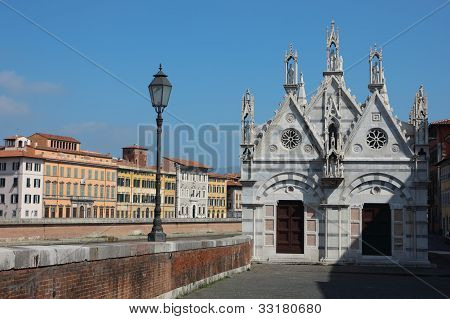Church Santa Maria Della Spina In Pisa