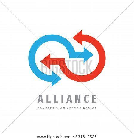Alliance Communication Logo Template Design. Cooperation Concept Business Vector Logo Sign.