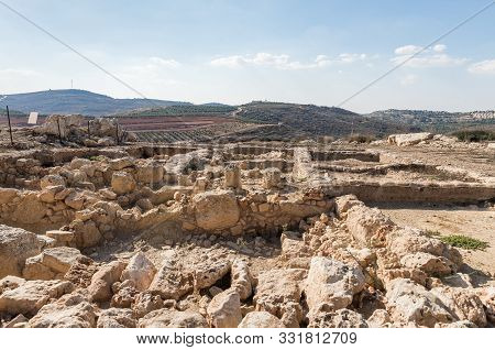 Rosh Haayin, Israel, October 31, 2019 : Archaeological Excavations At The Place Where The Tabernacle