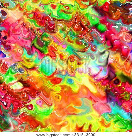 A Digitally Created Acrylic Seamless Fluid Cell Painting.