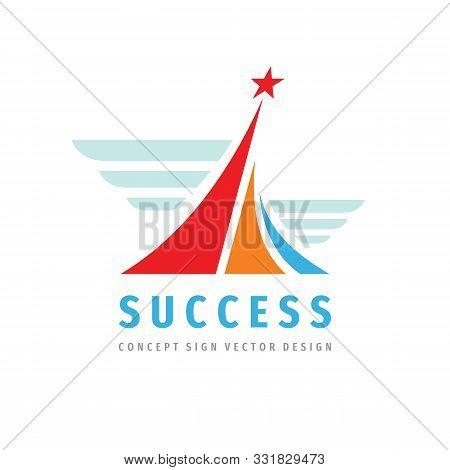 Success - Vector Logo Template Concept Illustration. Progress Creative Abstract Logo Sign. Award Win