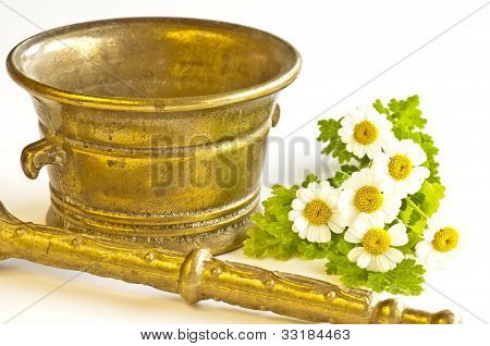 Mortar With Feverfew
