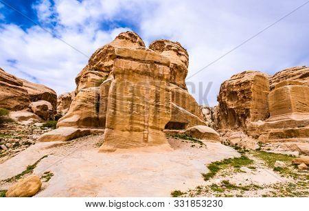 The Sandstone Landscape in Jordan, Petra