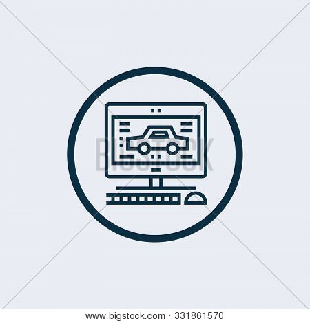Diagnostic Icon Isolated On White Background. Diagnostic Icon Simple Sign. Diagnostic Icon Trendy An