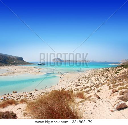 Beach of Crete where is pink sands.