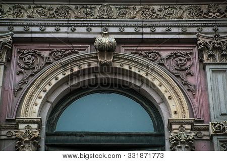 Upper Part Of A Window, Downtown Mexico City, French Style
