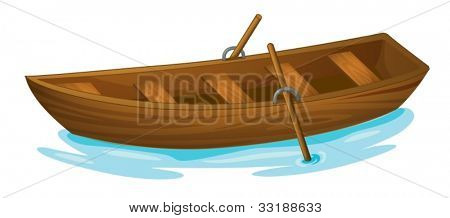 Illustration of a wooden boat