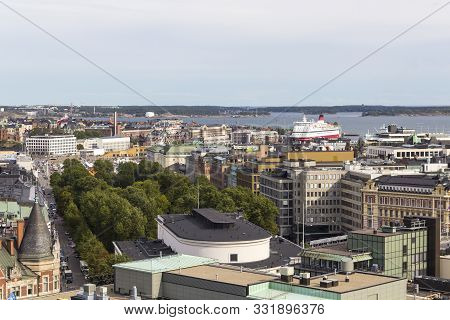 Aerial View Of The Center Of Helsinki, Finland