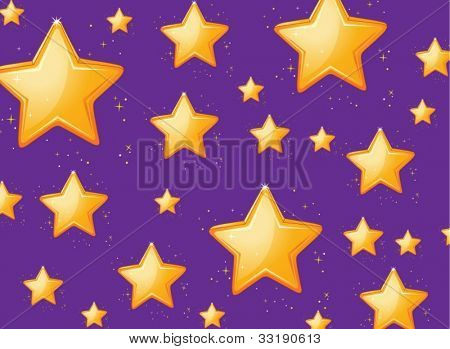 Illustration of a star background