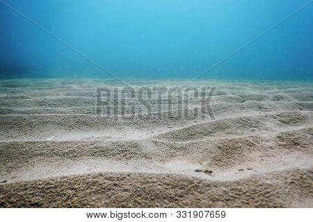 Sandy Sea Bottom Underwater Background, Sandy Bottom