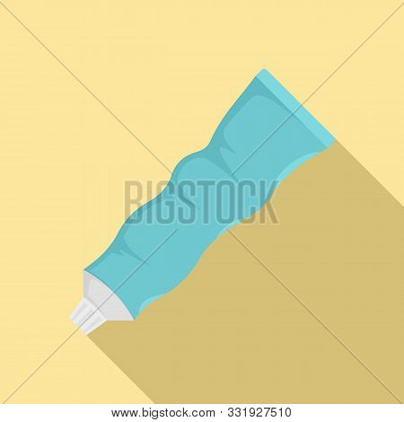 Used Toothpaste Icon. Flat Illustration Of Used Toothpaste Vector Icon For Web Design
