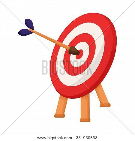Vector Design Of Dartboard And Dart Logo. Web Element Of Dartboard And Aim Stock Symbol For Web.