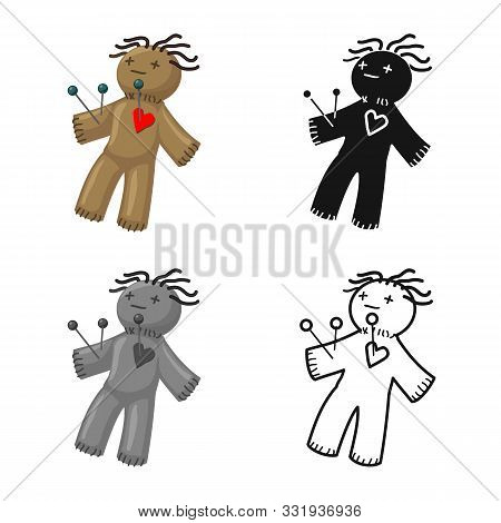Vector Illustration Of Voodoo And Doll Symbol. Web Element Of Voodoo And Puppet Stock Symbol For Web