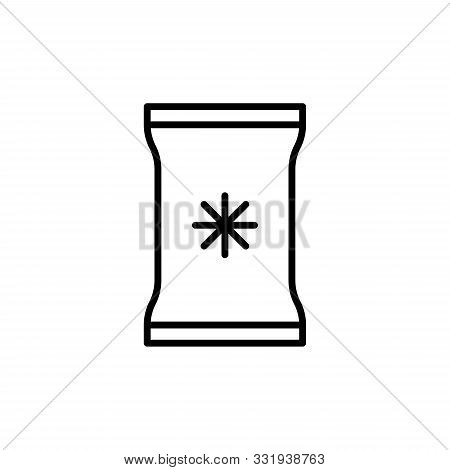 Vector Frozen Food Bag Line Icon Isolated