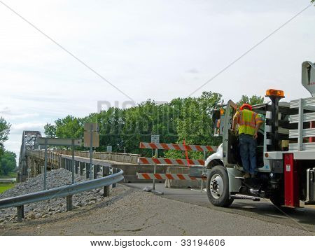 New Harmony, Indiana - 21:  Wabash Bridge Closes a Week Early.