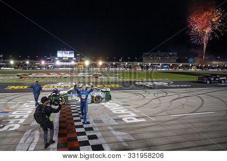 November 03, 2019 - Ft. Worth, Texas, USA: The Monster Energy NASCAR Cup Series teams take to the track for the AAA Texas 500 at Texas Motor Speedway in Ft. Worth, Texas.