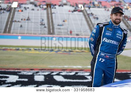 November 02, 2019 - Ft. Worth, Texas, USA: Ricky Stenhouse Jr (17) gets ready to qualify for the AAA Texas 500 at Texas Motor Speedway in Ft. Worth, Texas.