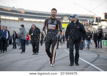 November 02, 2019 - Ft. Worth, Texas, USA: Corey LaJoie (32) gets ready to qualify for the AAA Texas 500 at Texas Motor Speedway in Ft. Worth, Texas.