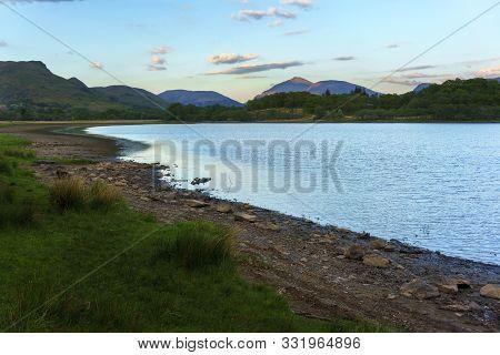 Beautiful Scenery  Loch Awe Around Kilchurn Castle In Sunset , Argyll And Bute , Scotland