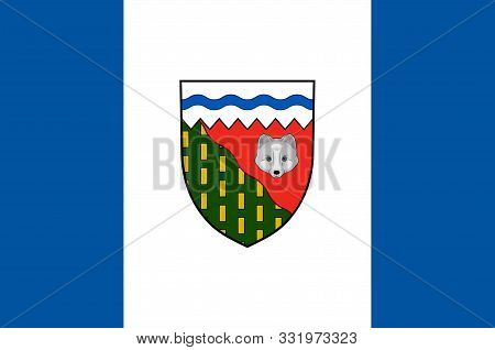 Flag Of Northwest Territories Is A Federal Territory Of Canada. Vector Illustration